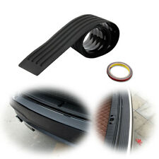 Guard Sill Plate Trunk Protector Trim Cover Black JDM Rear Bumper Rubber Pad Kit