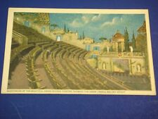 Auditorium Grand Riviera Theatre Greek Temple Vintage Colorful Postcard PC6