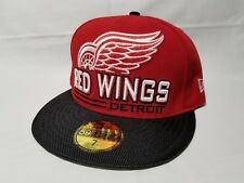 6c417fcf218 New Era 59FIFTY DETROIT RED WINGS Red Team National Hockey League NHL Hat  size 7