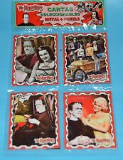 MUNSTERS FAMILY TV SERIE HERMAN LILY SET 4 METAL CARD PUZZLE Gwynne Yvonne #2