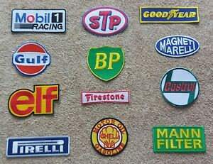 Set of 12 Motor Racing / Motor Sport Patches : Classic Cars Goodwood Festival d