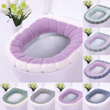 Bathroom Closestool Toilet Seat Cover Winter Fall Soft Warm Cushion Mat Washable