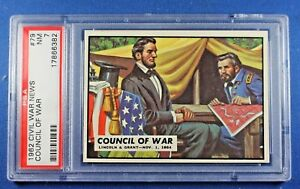 "1962 Topps Civil War News - #79 ""Council of War"" Lincoln/Grant - PSA Graded 7 NM"