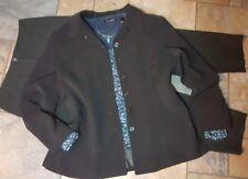 women's clothing lot outfit sz 10 pants, M/L blouse & blazer, necklace