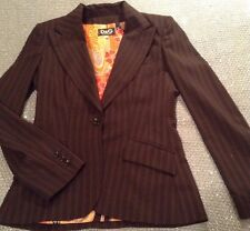 DOLCE&GABBANA BLACK STRIPPED WOMENS SUIT SIZE 30/44