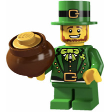 LEGO NEW SERIES 6 LEPRECHAUN MINIFIGURE SAINT PATRICKS DAY WITH STAND