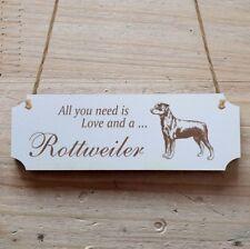 Türschild Dekoschild « Rottweiler 1 » Hund