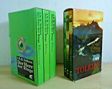 J.R.R. Tolkien: Der Herr der Ringe 1-3 + Feanors Fluch u.a. / TB grün Schuber