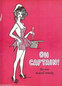 """Tony Randall """"OH CAPTAIN!"""" Abbe Lane / Alexandra Danilova 1958 Tryout Program"""