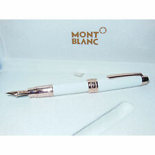 2ND* Meisterstuck Solitaire Tribute Mont Blanc Mozart Fountain Pen White M Nib
