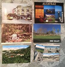 Lot If 6 Vintage California Postcards 1940s -1990s Collectable