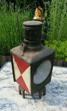 Eisenbahnlampe,Signalleuchte,  Eisenbahn Bahnlampe rot weiss