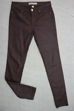 COUNTRY ROAD maroon wet look slim stretch jeans size 4 EUC
