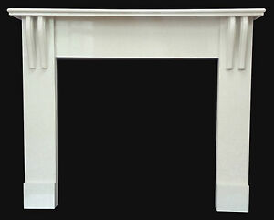 Art Nouveau Inspired Marble Fire Surround Designer Reproduction