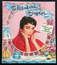Original Elizabeth Taylor Paper Dolls, Cut Whitman Set, 1955