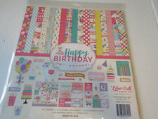 Echo Park Happy Birthday 12x12 Collection Kit Papers and Element Stickers