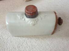 Antique Stoneware Hot Water Bottle. Bed Foot warmer. Cream.