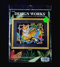 """Design Works Crafts, Inc. #9440 """"Tiger"""" Counted Cross Stitch Kit"""