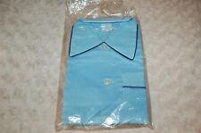 Pijama vintage Niño 10 años azul y liseret marina,algodón y poliéster