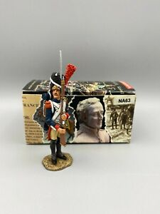 King & Country NA063 Guard with Rifle Present Arms Napoleonic Retired Rare