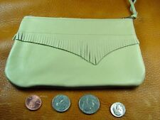 Large Tan Cowhide Leather coinpurse pouch USA hand crafted disabled veteran 5038