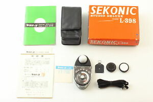 [Near MINT] Sekonic Studio Deluxe L-398 Exposure Light Meter w/ Case From JAPAN