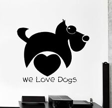 Wall Stickers Dog Funny Animal Love Kids Pets Decor Mural Vinyl Decal (ig056)