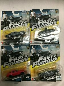 Fast & Furious die cast cars  lot of 4