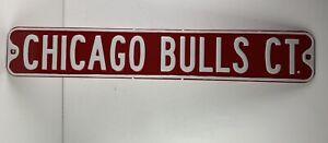 CHICAGO BULLS CT. Metal Street Sign 36 x 6 Heavy Gauge Metal Jordon Last Dance