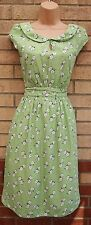 Emily and Fin Verde Bianco a Fiori Peter Pan Colletto Skater Flapper Tea Dress M 12