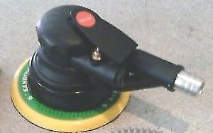 QUALITY DYNABRADE-STYLE DUAL-ACTION AIR PALM SANDER VELCR0 PAD.INCL DUSTHOSE DA