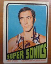 JIM FOX signed autographed auto 1972-73 Topps  Seattle Super Sonics