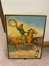 Cowboy Maynard Dixon Acme Ale  Beer Sign