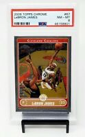 2006 Topps Chrome LA Lakers Great LEBRON JAMES Basketball Card PSA 8 NM-MINT
