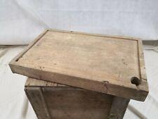 Planche à découper ancienne boucher bois/cuisine/objet de métier/art populaire