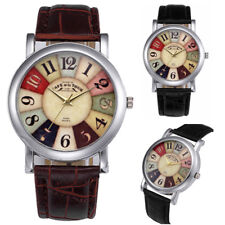 Fashion Women Girl Retro Watches Dial Leather Band Quartz Analog Wrist Watch New