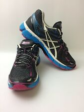 ASICS GT-2000 Womens Size 8 Narrow 2A Running Shoes Black/Pink/Blue