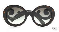 Prada PR08T 2AU  DARK DARK TORTOISE Sunglasses New Authentic 55