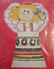 "NEW!  Vntg 1981 Dimensions Crewel Embroidery Kit ""Tree Top Angel"" w Stuffing  8"""