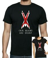 GAME Of THRONES : HOUSE BOLTON / Flayed Man OUR BLADES ARE SHARP T-Shirt