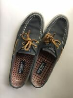 Well Worn Women's Shoes - Navy Sperry Top-siders 7.5 M
