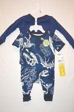 NWT OshKosh B'Gosh Pajamas 3-Pieces Size 9M Dinosaur Glow in the Dark