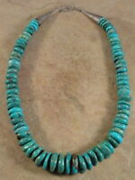 BIG Beautiful Santo Domingo Turquoise & Sterling Silver Necklace