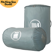 Grey Breathable Duvet Bedding Clothing Storage Bags Under Bed Super King Size