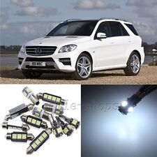 Error Free White 20pcs Interior LED Light Kit for 2012-2014 Benz ML-Class W166