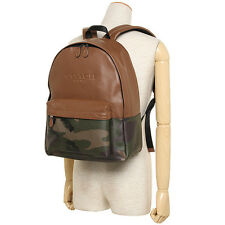 $550 NWT Coach Charles Backpack in Printed Coated Canvas 72344 Silver/Green Camo