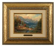 Thomas Kinkade Beginning of a Perfect Day - Brushwork (Gold Frame)