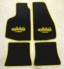 Autoteppich Fußmatten für VW Golf 1 Cabrio -93' 4tlg Motiv gelb nicht original