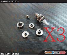 Hawk Creation 180 cfx Metal Servo Gears Combo (3 Servos) - Blade 180CFX
