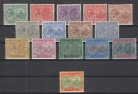 C2887/ BRITISH ST KITTS NEVIS – SG # 37 / 41 – 43 / 47c MINT MH – CV 155 $